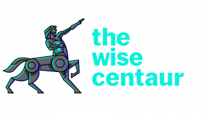 THE WISE CENTAUR png logo